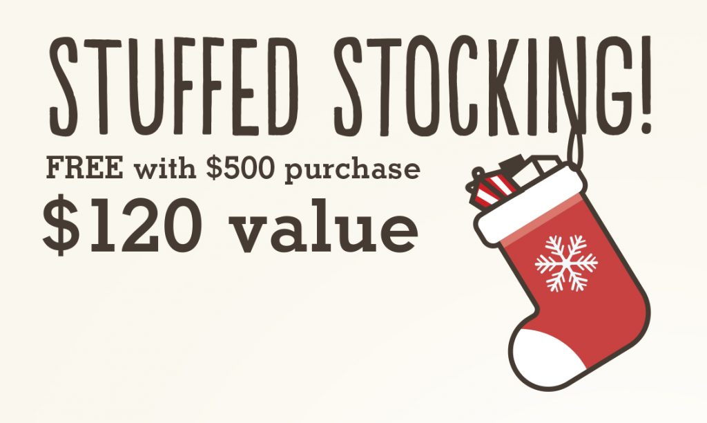 Free Stocking with Purchase During Our 'Tis The Season Christmas Sale