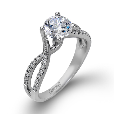 Delicate Interwoven Engagement Ring