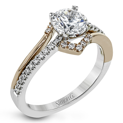 Two-Tone Modern Engagement Ring