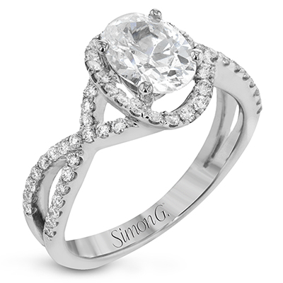 Romantic Oval Halo Engagement Ring
