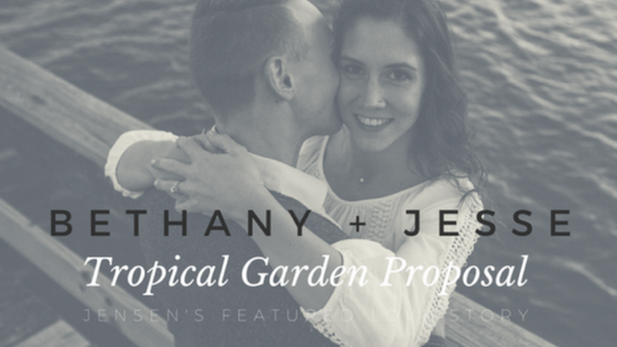 Jesse and Bethany's Tropical Garden Engagement