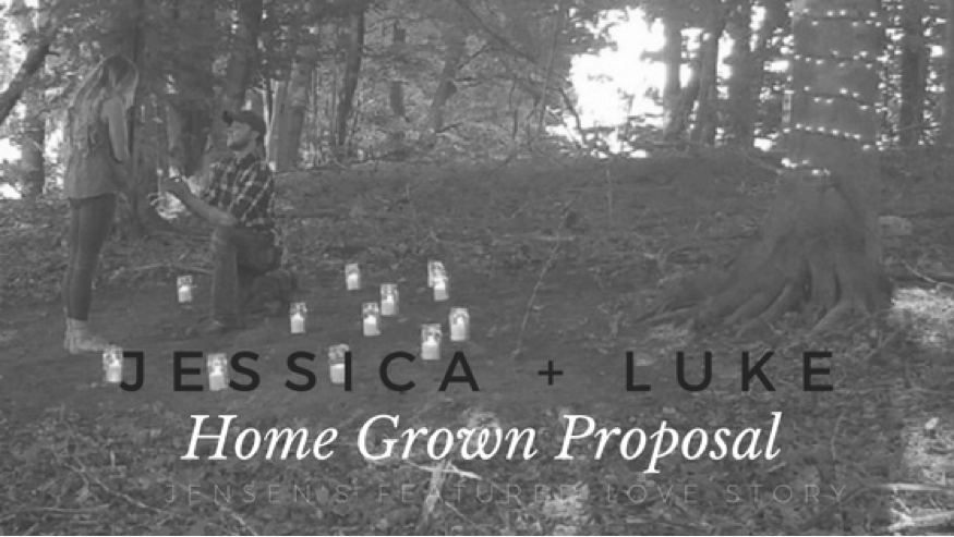 Luke and Jessica's Home Grown Proposal | JensenJewelers.com