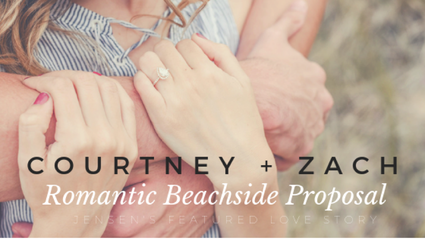 Courtney and Zach's Romantic Beachside Proposal