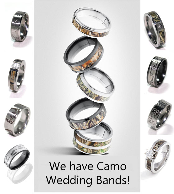 camouflage wedding rings huge selection of camo wedding rings - Realtree Camo Wedding Rings
